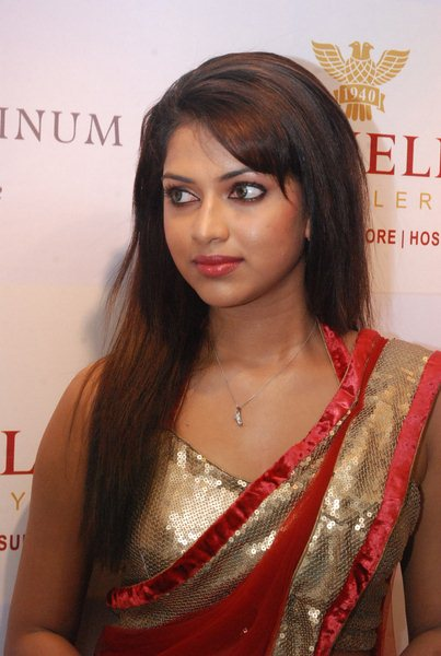 Actress Amala Paul in Red Transparent Saree Photos