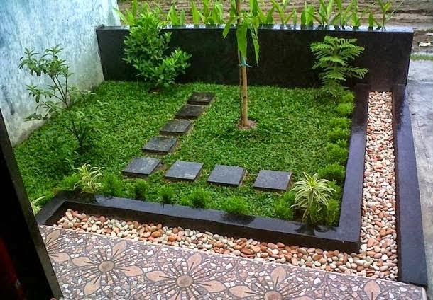 Contoh taman rumah minimalis
