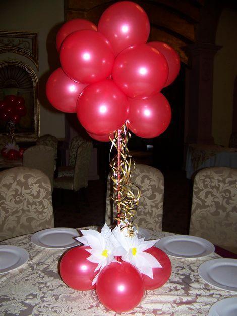 Como hacer centro de mesa con globos Imagui