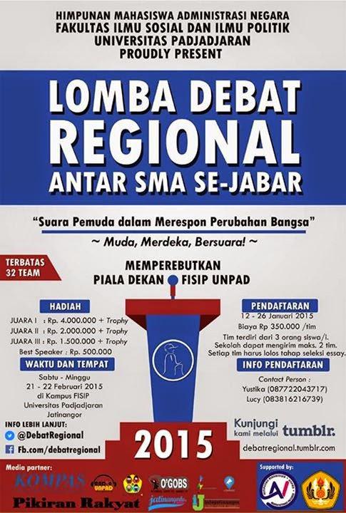 Lomba Debat Regional Antar SMA Se-Jawa Barat & Seminar Nasional 2015