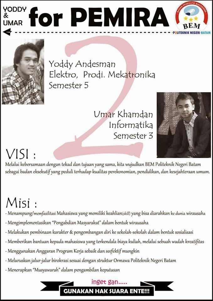 Kandidat 2 Capresma Politeknik Negeri Batam