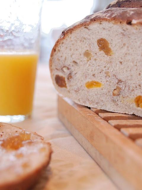recette pain fruits noix