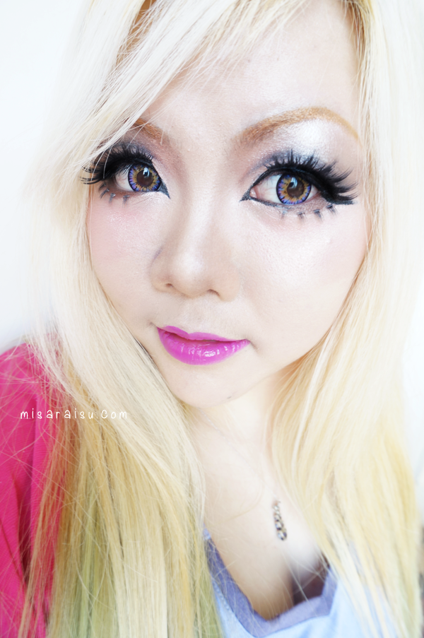 vassen rainbow purplish red circle lens