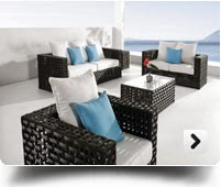 outdoor wicker sofa & lounge