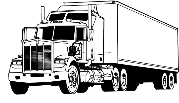 Unique Comics Animation: finest truck coloring pages