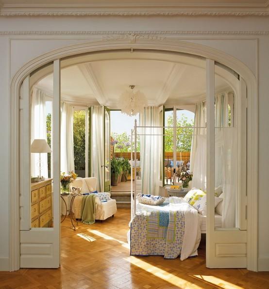 Diseo De Dormitorios Romnticos Con Ventanas Semi