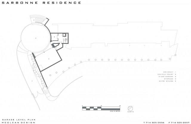Site plan of modern home in Los Angeles