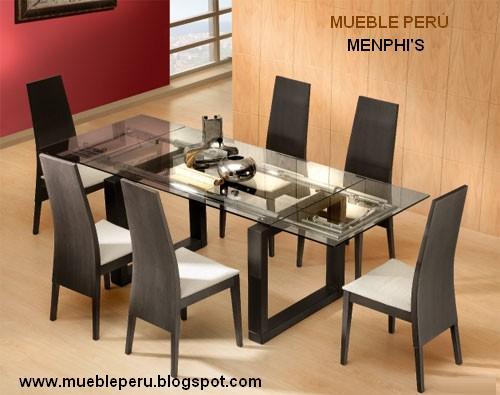 Mueble peru exclusivos y modernos comedores for Comedores de madera modernos