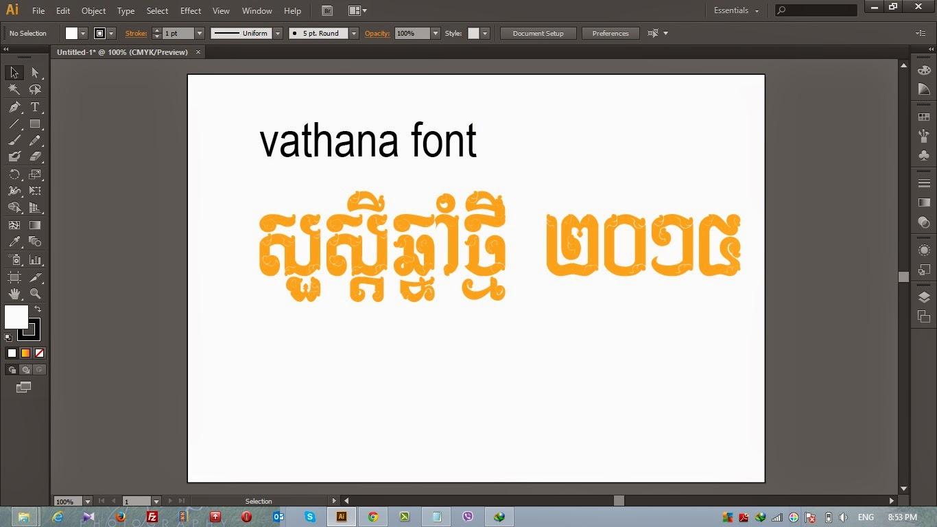 download_Vathana Khmer Font