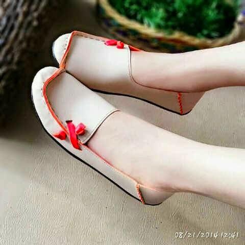 Sepatu Cewek Flat Sepatu Cewek Flat Pretty Shoes Krem