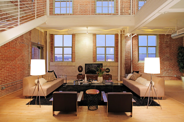 Photo of living area in the penthouse interiors