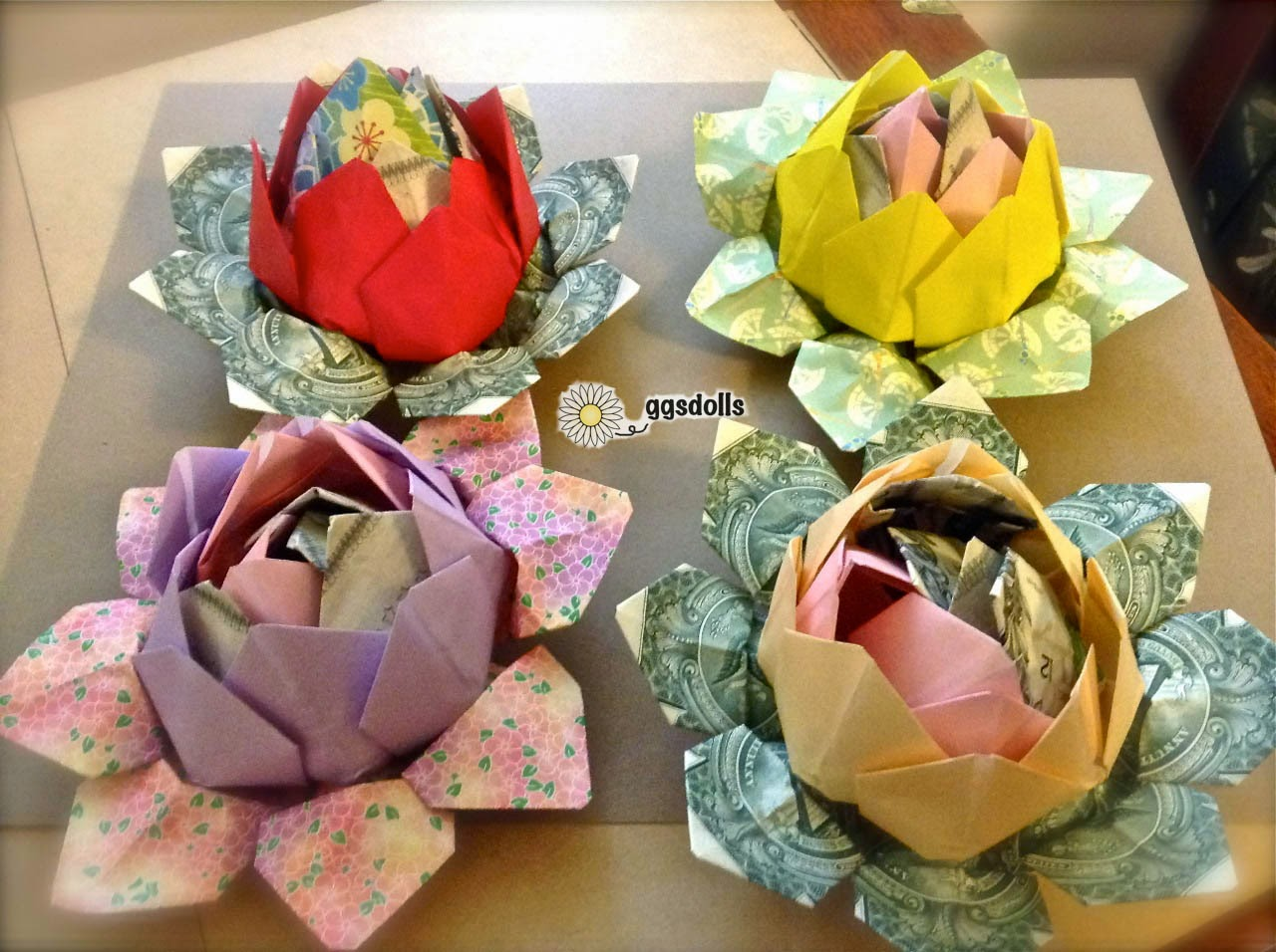 Ggsdolls Making More Origami Money Lotuses