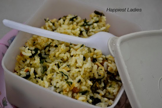 Spinach Rice/ Palak Rice: A healthy Lunch Box