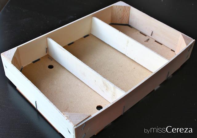 DIY caja de madera pintada