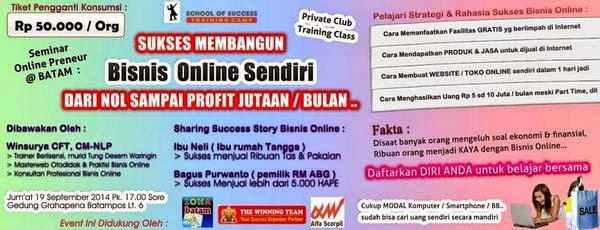 Worksop Meraup Juttan Rupiah dari Online