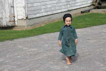 Amish Woman Walking Barefoot