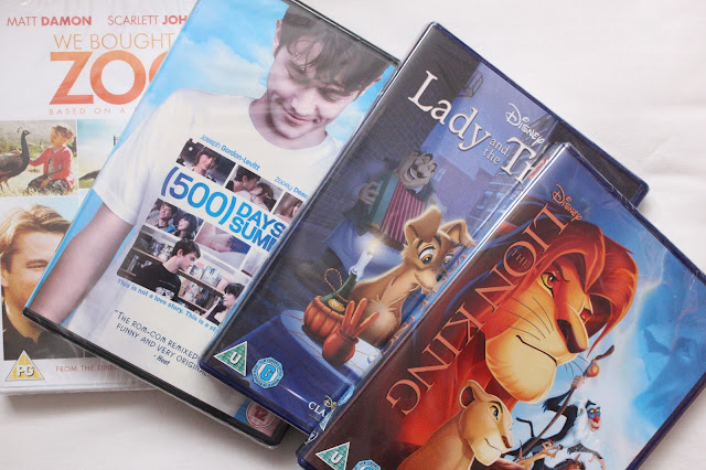 lion king lady and the tramp Disney 500 days of summer we brought a zoo DVDS