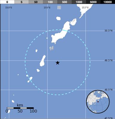 Epicentro sismo islas Kuriles 09 de Septiembre 2012