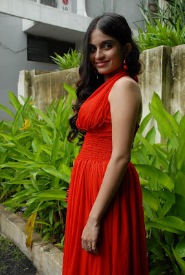 sheena shahabadi shoot red dress latest photos