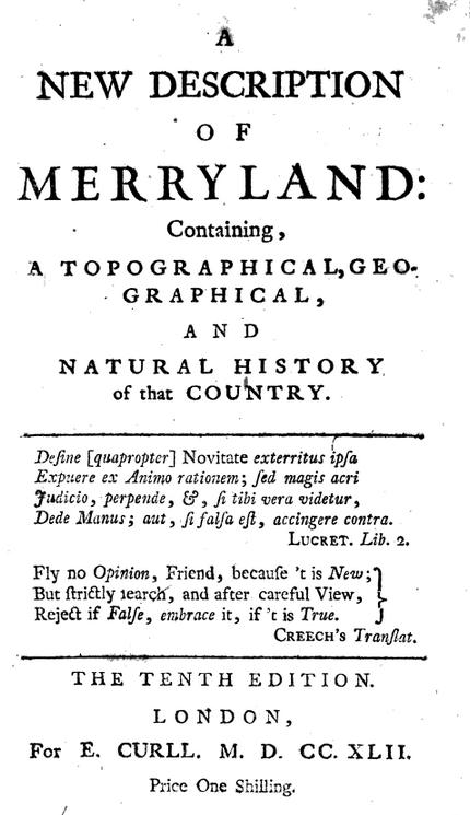 Merryland frontpiece
