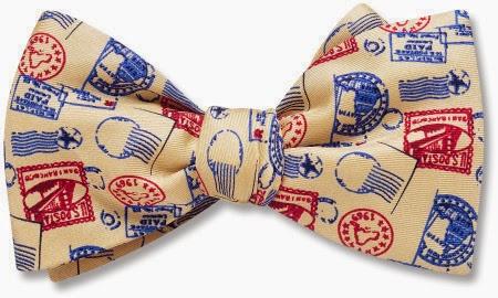 Postmark bow tie from Beau Ties Ltd.