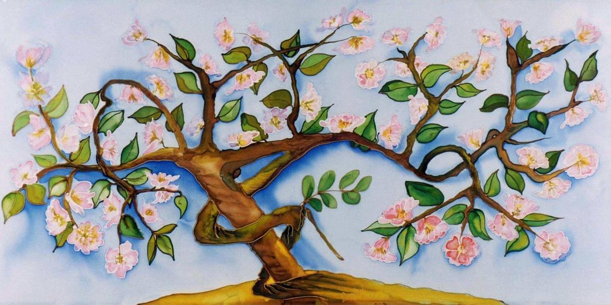 Blomstrende abrikostræ