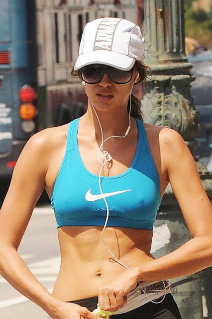Irina Shayk - Sports Bra & Leggings In New York