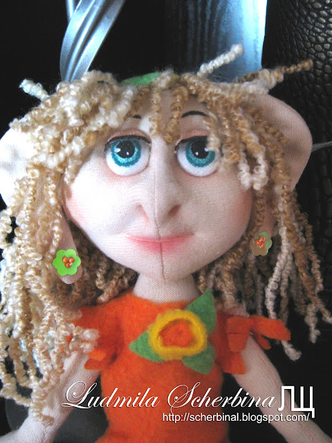 Текстильная кукла Гномик