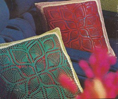 """Cojines """"Simetría"""" a Crochet"""
