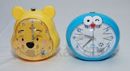 Jam Meja Alarm Cartoon Character