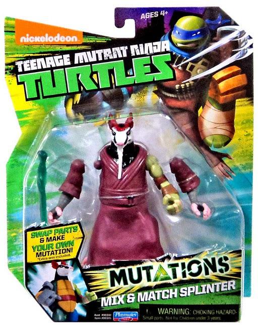 JUGUETES - LAS TORTUGAS NINJA : Mutations  Mix & Match Splinter | Figura - Muñeco Teenage Mutant Ninja Turtles | TMNT | Nickelodeon  Producto Oficial 2015 | Playmates | A partir de 4 años