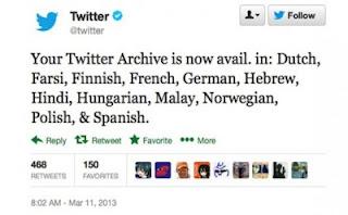 Twitter Tambahkan 12 Bahasa Arsip