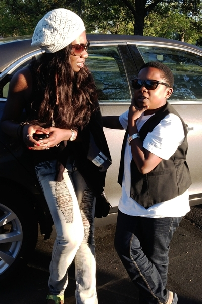 Chinedu Ikedieze(Aki)& wife vacation in the USA