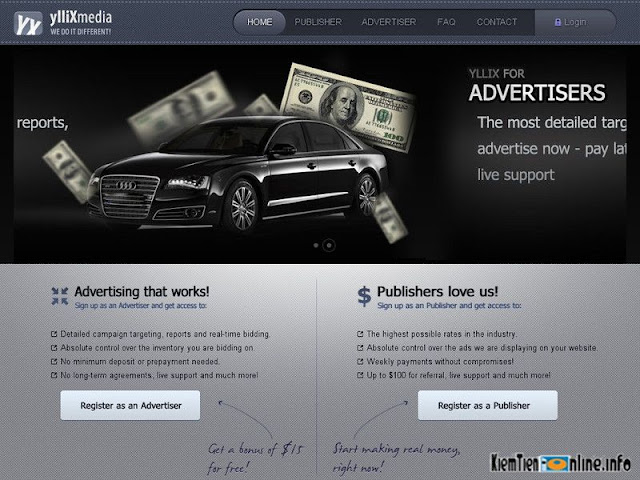 Cơ bản về kiếm tiền online với YllixMedia