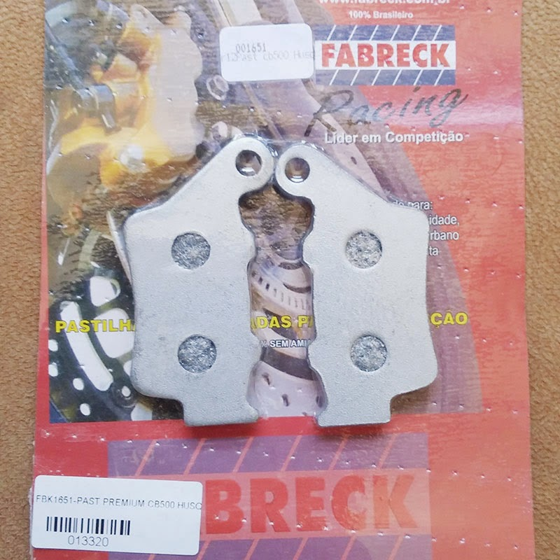 Pastilha de freio traseira Fabreck Racing.