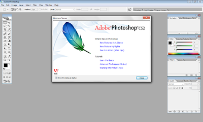 Tampilan Adobe Photoshop CS2