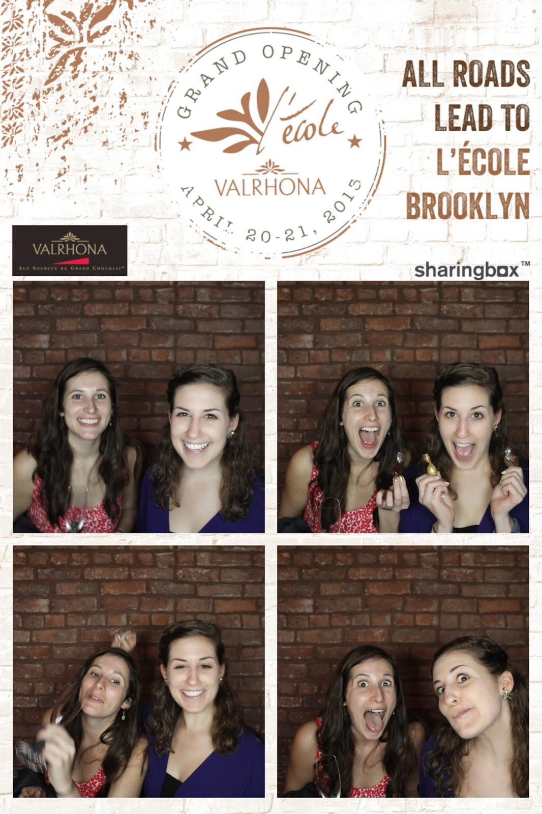 sharingbox photo booth from Valrhona party