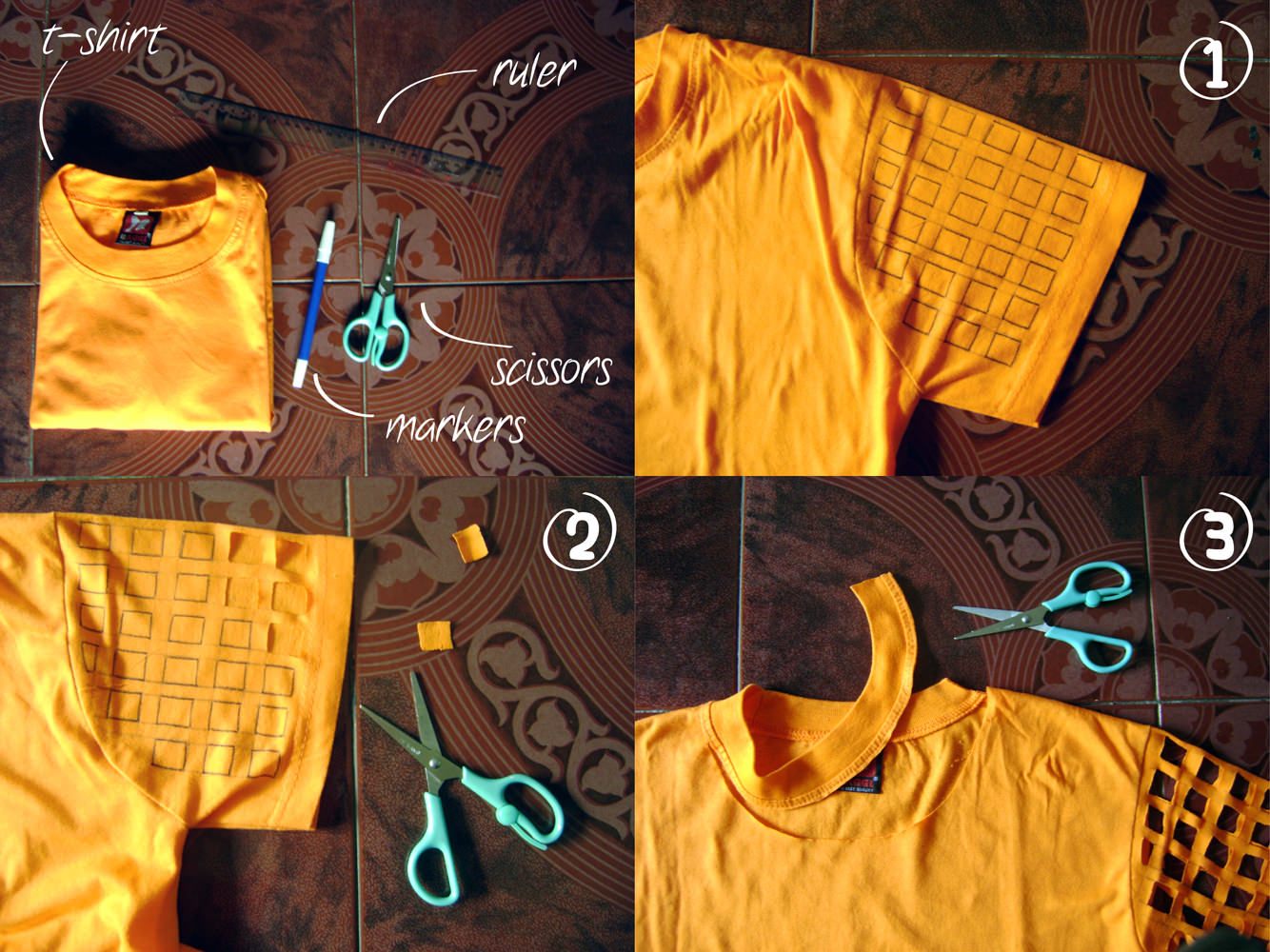 how to make your own cut t-shirt