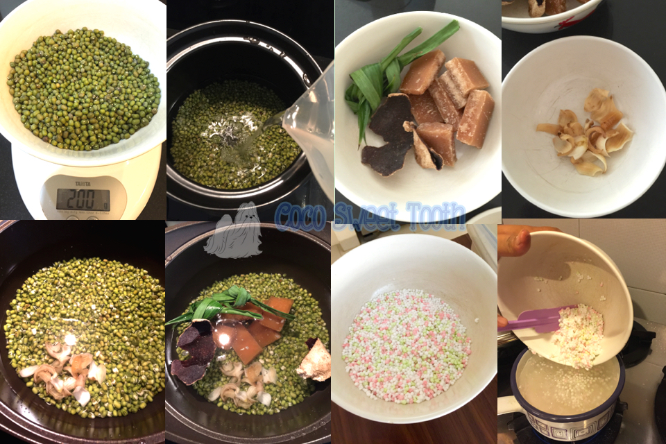 how to cook green bean soup with sago
