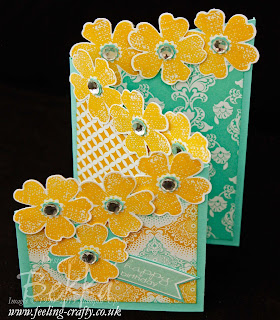 Cascading Flowers Card with the Flower Shop Stamp Set from Stampin' Up! - check out this blog for lots of great ideas