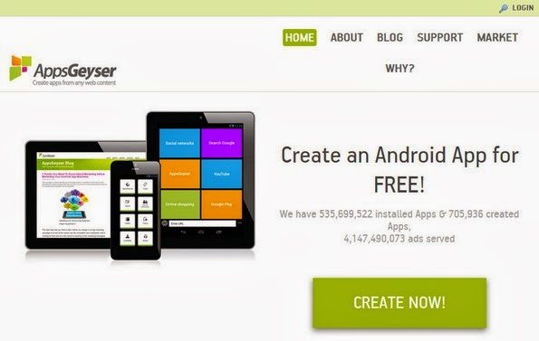 AppsGeyser - Tool to convert site into android app