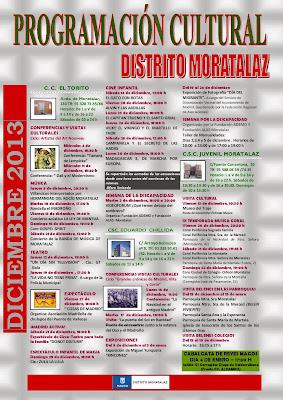 Programación cultural de Moratalaz completa. Diciembre de 2013.