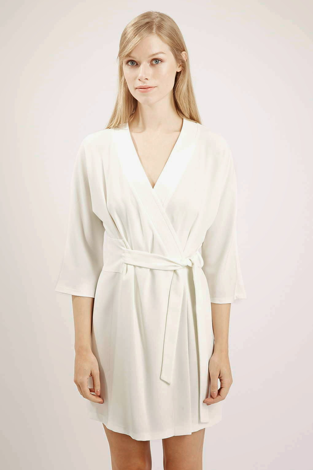 topshop white wrap dress, white wrap belt dress,
