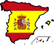 Map of Spain Map with Graphics flag of Spain (graphics wallpapers flag of spain )