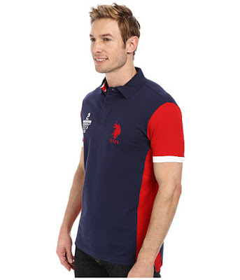 U.S. Polo Assn. Men's Color Block Slim Fit Pique Polo