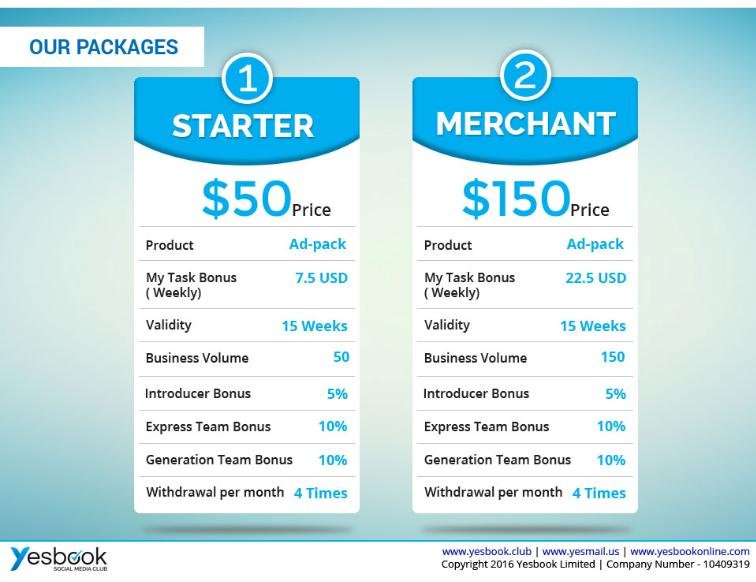 YESBOOK SMART PACKAGES