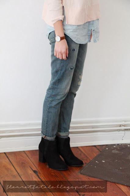 Pastellfarben und Boyfriendjeans: Outfitlook von Modeblog Fleur et Fatale
