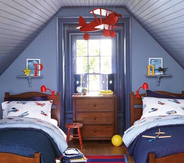 Dormitor copii 2 albastru