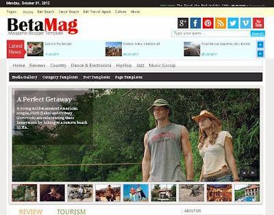 BetaMag Blogger Template