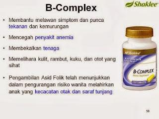 Kelebihan B Complex Shaklee